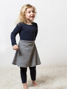 Little Green Radicals Navy Little Twirler Dress